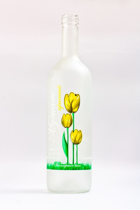 Frosting And Printing Glass Bottles